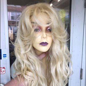 Blonde wig 6X6 Freeparting Lacefront Long waxy wig